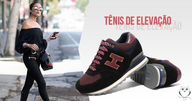 Tênis de elevação - Fique mais alta de forma confortável!