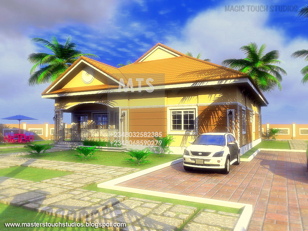2 bedroom bungalow for Four bedroom bungalow
