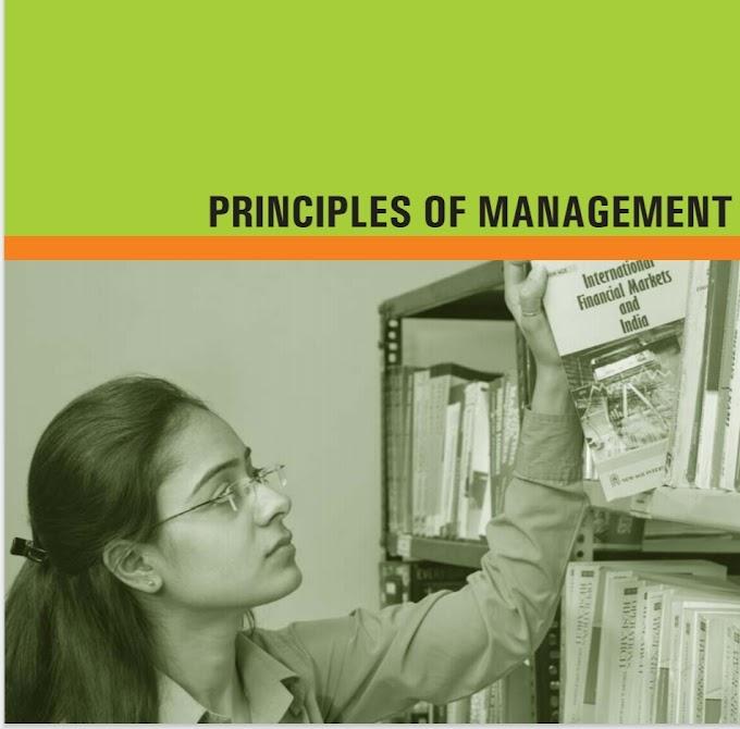 PRINCIPLES OF MANAGEMENT PDF BOOK management free pdf book