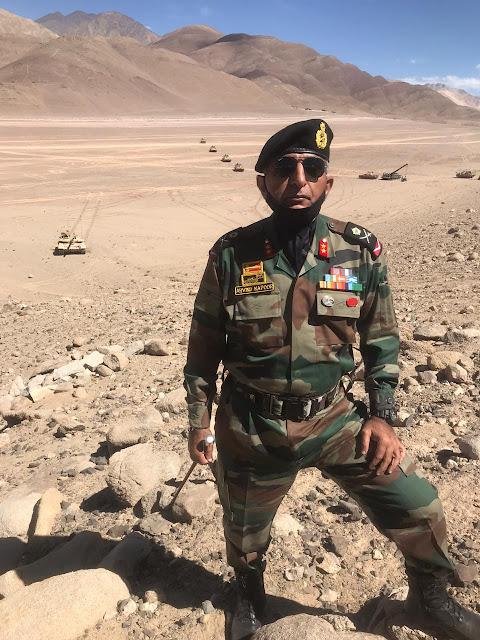 Major Gen. Arvind Kapoor in ladakh