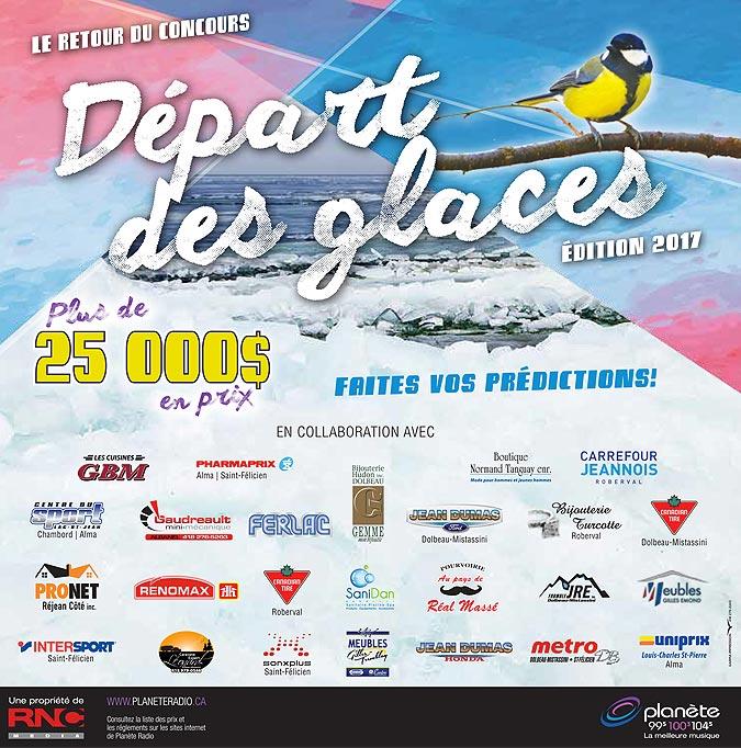Le blogue des bleuets du lac saint jean d part des glaces du lac saint jean 2017 suivi et - Date des saint de glace 2017 ...