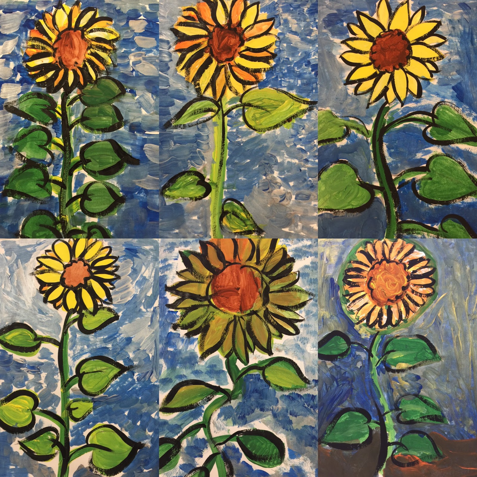 This Week's Party in the Art Room: Sunflowers and Van Gogh