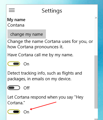 Enable Hey, Cortana On Windows 10 Technical Preview
