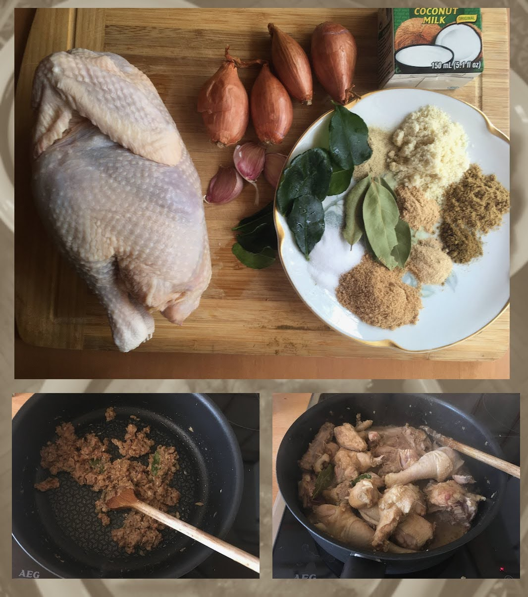Opor Ayam, Hühnereintopf mit Kokosmilch