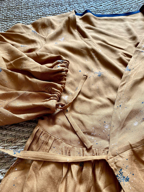 Diary of a Chain Stitcher: By Hand London Hannah Wrap Dress Top in Atelier Brunette Viscose Twill
