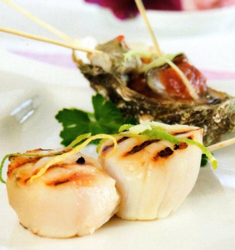 mad der smager: Grillede kammuslinger (8 - 10 pers.)