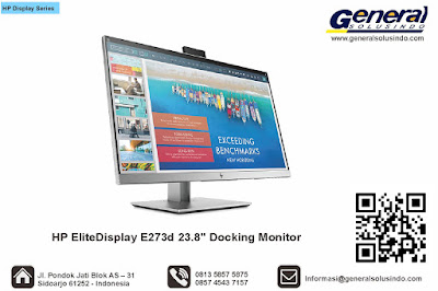 "HP EliteDisplay E273d 23.8"" Docking Monitor"