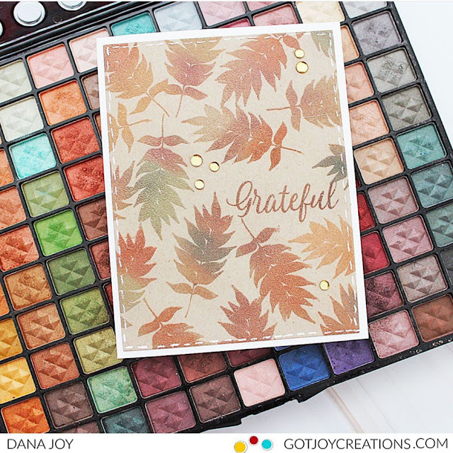 Sunny Studio Stamps: Elegant Leaves Customer Fall Themed Card by Dana Joy