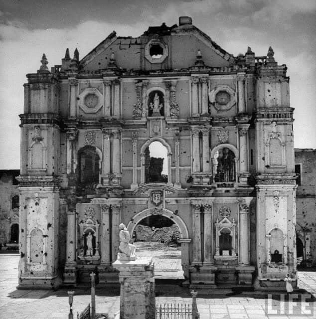 Ruins of The Santuario de San Antonio de Padua in Intramuros, Manila