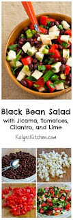 Black Bean Salad with Jicama, Tomatoes, Cilantro, and Lime [from KalynsKitchen.com]