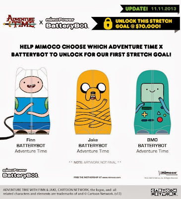 Adventure Time BatteryBot Designer Battery Back-up Mini Figures by Mimoco