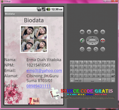 Download Gratis Source Code Aplikasi Biodata Android Eclipse + SDK