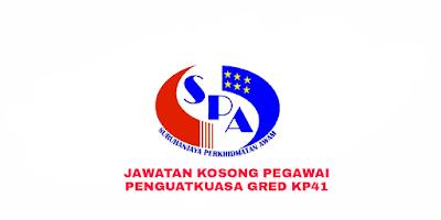 Permohonan Jawatan Kosong Pegawai Penguatkuasa Gred KP41 2018