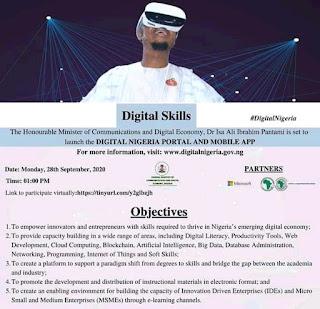 PANTAMI YA KADDAMAR WA YAN NIGERIA MANHAJAR INTERNET MAI SUNA DIGITAL NIGERIA PORTAL AND MOBILE APP