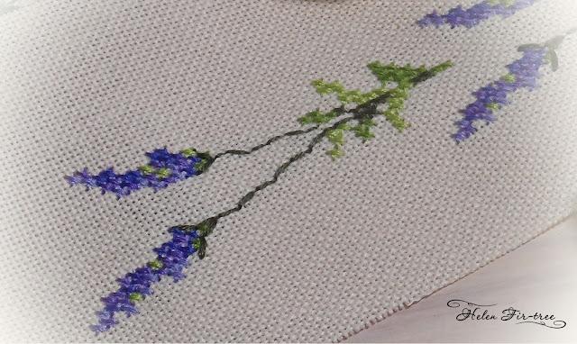Helen Fir-tree countable embroidery cross lavender вышивка счётным крестом лаванда