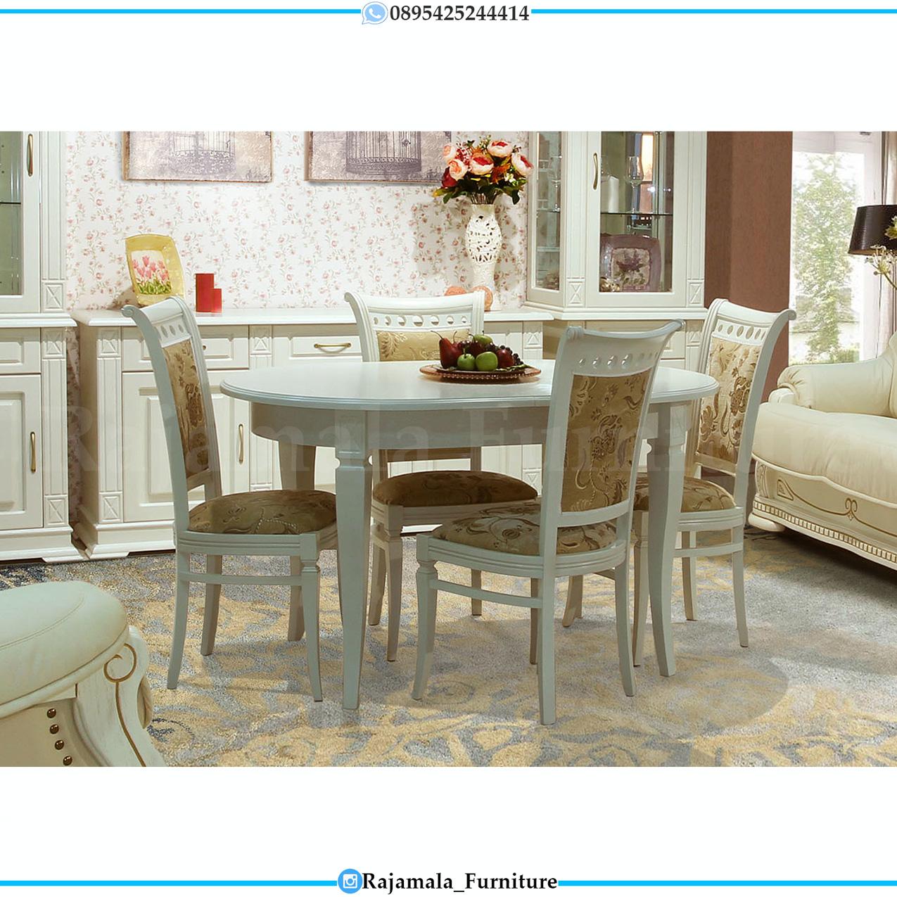 Meja Makan Minimalis Duco Classic Luxury Furniture Jepara Terbaru RM-0275