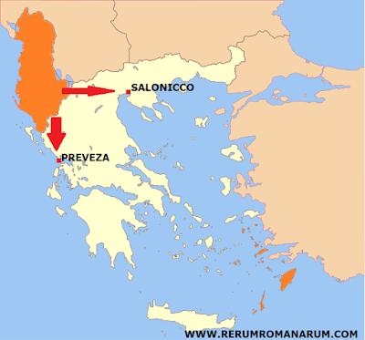 mappa piano invasione italiana grecia 1940