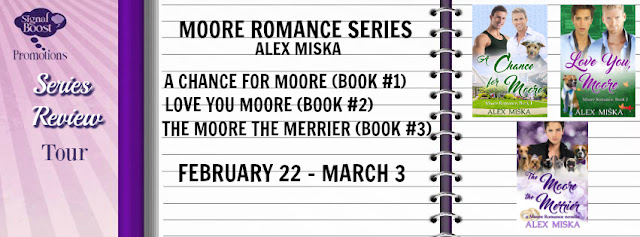 Review Tour incl Series Review & Giveaway: Moore Romance #1 - #2.5 by Alex Miska