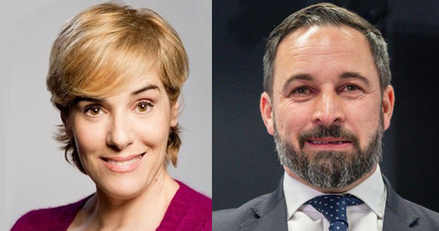 Anabel Alonso y Santiago Abascal