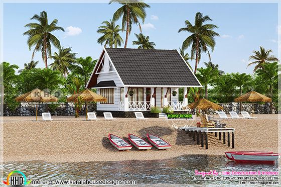 Single floor beach resort in Kerala