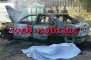Hallan cuerpo encajueado en taxi calcinado en Morelia Michoacan