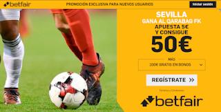 betfair supercuota Sevilla gana a Qarabag 19 septiembre 2019