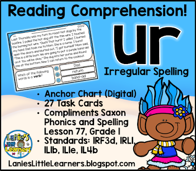 Letter Combination ur (Bossy r): Reading Comprehension!