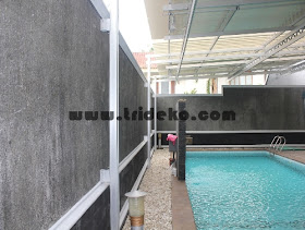 kanopi kaca dan sunlouvre sistem atap buka tutup: atap