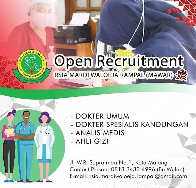 Loker Dokter RSIA Mardi Waloeja Rampal Malang