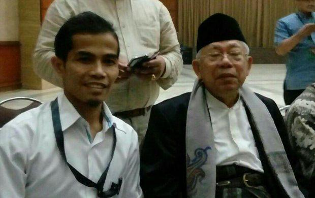 Sekretaris PP Pemuda Muhammadiyah Pedri Kasman bersama KH Ma'ruf Amin