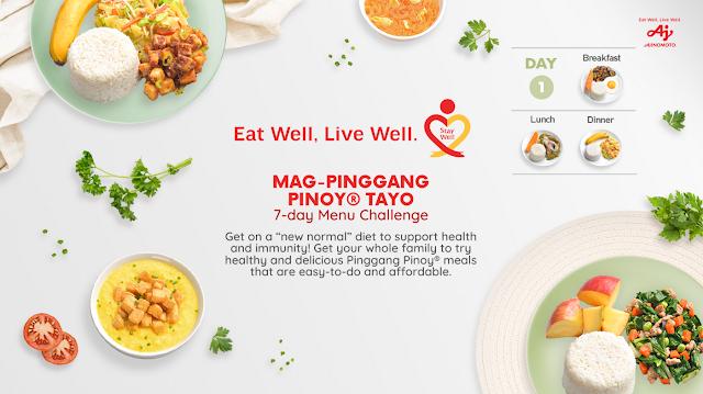 Ajinomoto, Mag-Pinggang Pinoy® Tayo 7-day Menu Challenge
