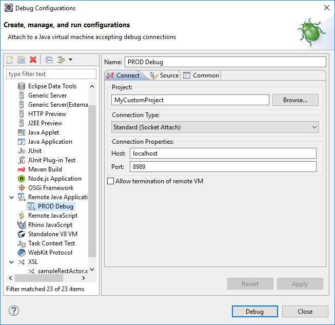 HLP#004 - How to debug an ATG Application on Weblogic using Eclipse