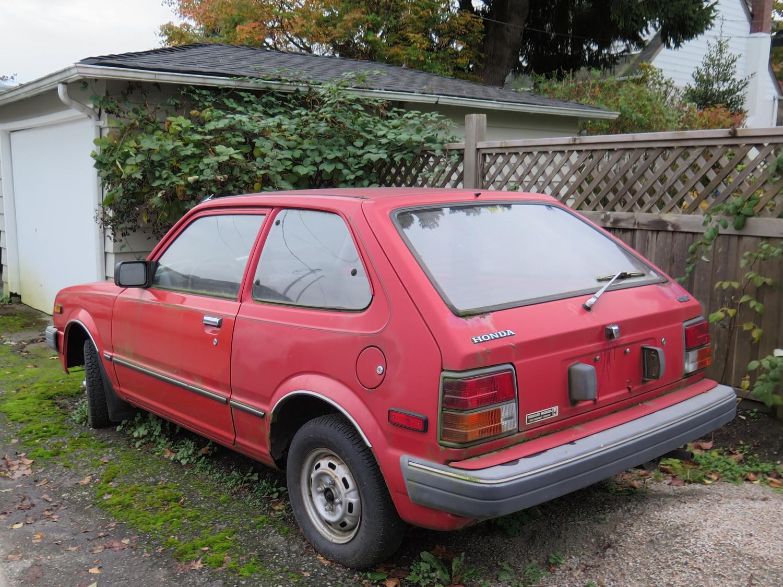 old parked cars vancouver 1982 honda civic hatchback. Black Bedroom Furniture Sets. Home Design Ideas