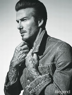 David Beckham Hashtag legend magazine photo shoot