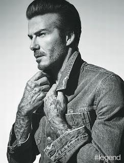 David Beckham Hashtag legend magazine photo shoot