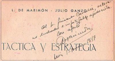 Dedicatoria de Luis de Marimón