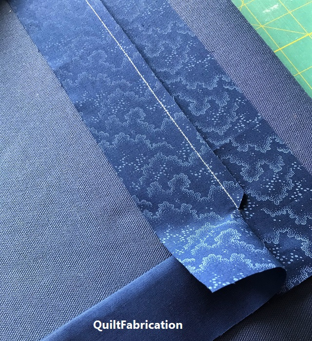 setting a crisp seam for a picture frame quilt border
