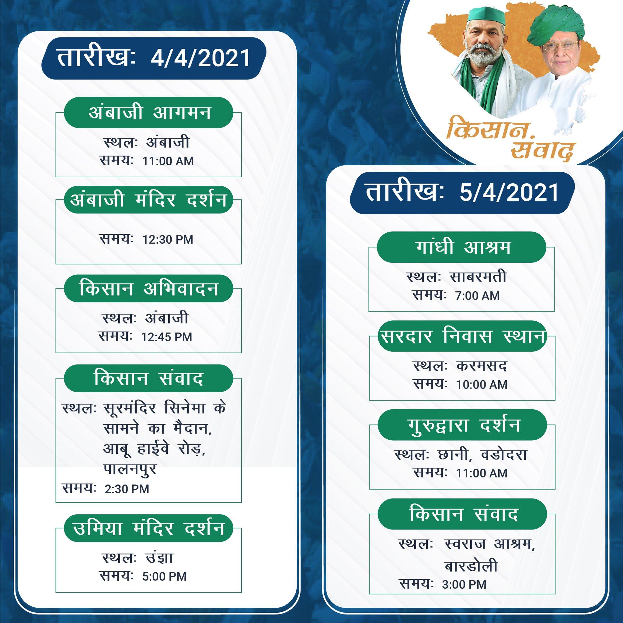 Rakesh Tikait In Gujarat