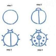 Cara Mudah Menggambar Kepik Untuk Anak-Anak