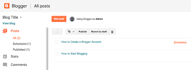 create blogger posts