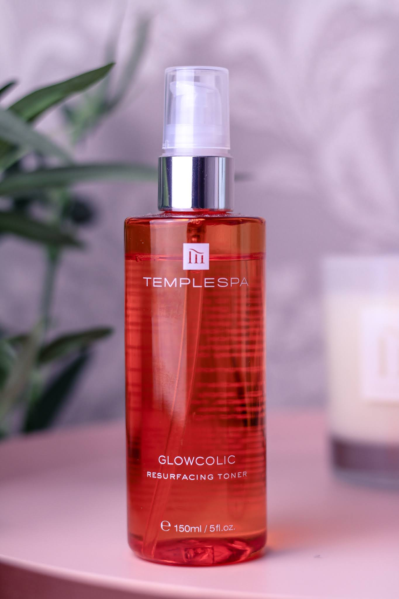 Close up photo of  GLOWCOLIC Resurfacing Glycolic Acid Toner by Temple Spa