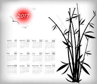 2017カレンダー無料テンプレート212