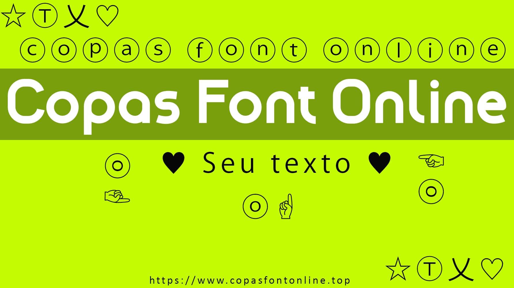 Copas Font Online,Font Keren