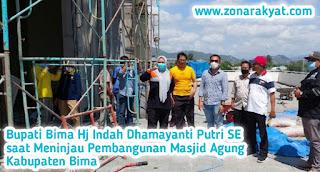 Bupati Tinjau Pembangunan Masjid Agung Kabupaten Bima