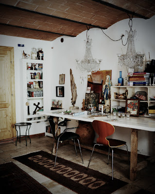 Artisan Andrea Brugi reclaimed materials work table photography by Ditte Isager styling by Christine Rudolph as seen on linenandlavender.net - http://www.linenandlavender.net/2013/07/artisan-feature-andrea-brugi-it.html