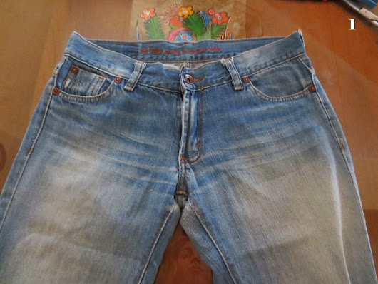 DIY Short de Jean en degradé