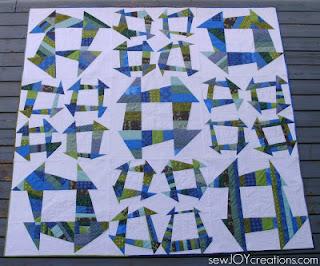 Liberated churn dash quilt