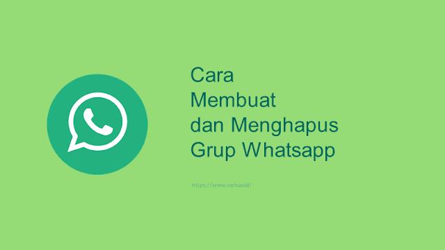 cara membuat dan menghapus grup whatsapp