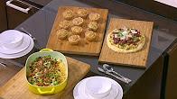 برنامج  أميرة في المطبخ حلقة 10-8-2017 طريقة عمل كاسرول انشيلادا للفطار - بيتزا بالرومي والسجق - مافن البطاطا مع اميرة شنب