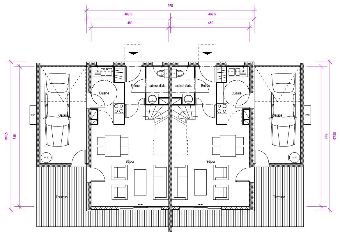 Puits Canadien Plan dedans laurent gelly architecte: logements individuels groupÉs marseillan